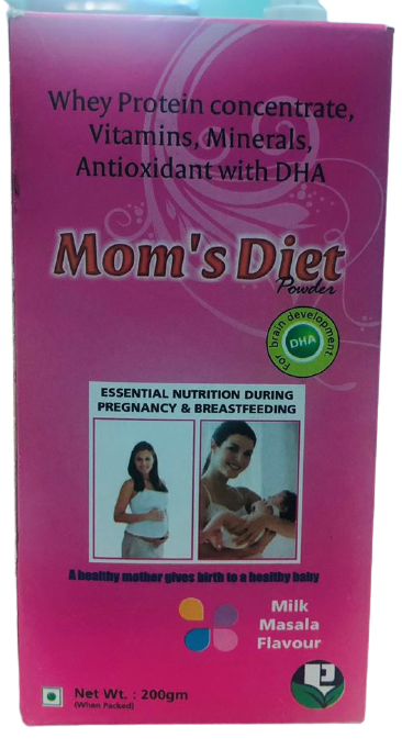 Mom's Diet Powder Essential Nutrients for Mom's and During Pregnancy, Milk Masala Flavour(200gm)